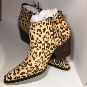 Leopard Walden Booties- Calf Hair- Sam Edelman NWT